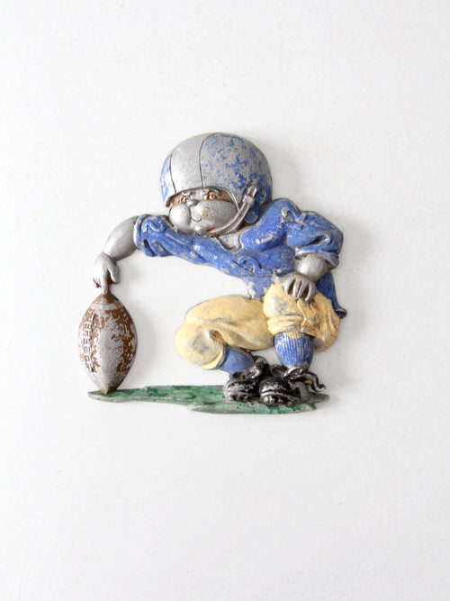 Homco football player wall decor circa 1976