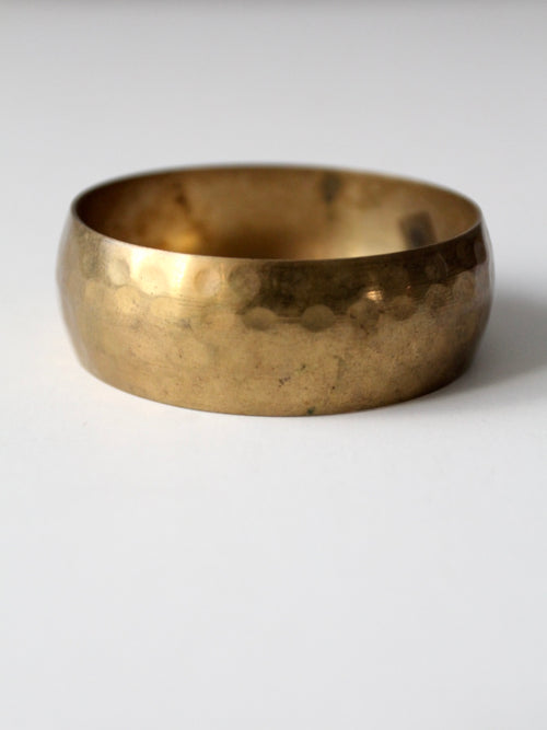 vintage hammered brass bangle bracelet