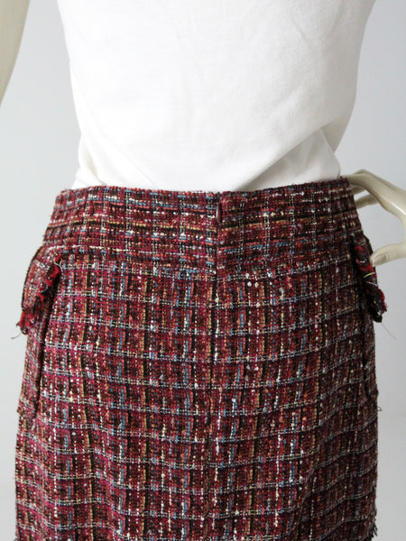 vintage purple tweed mini skirt