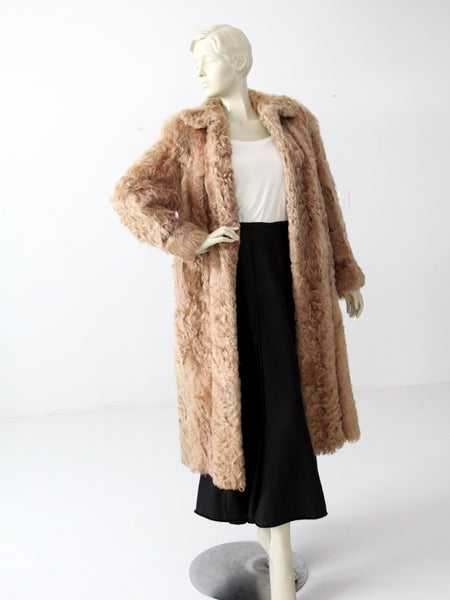 vintage long maxi fur coat