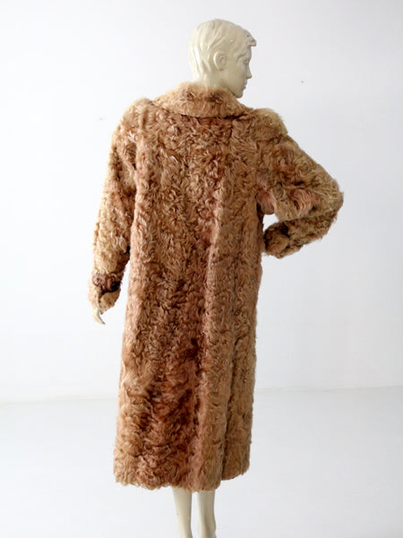 vintage long fur coat