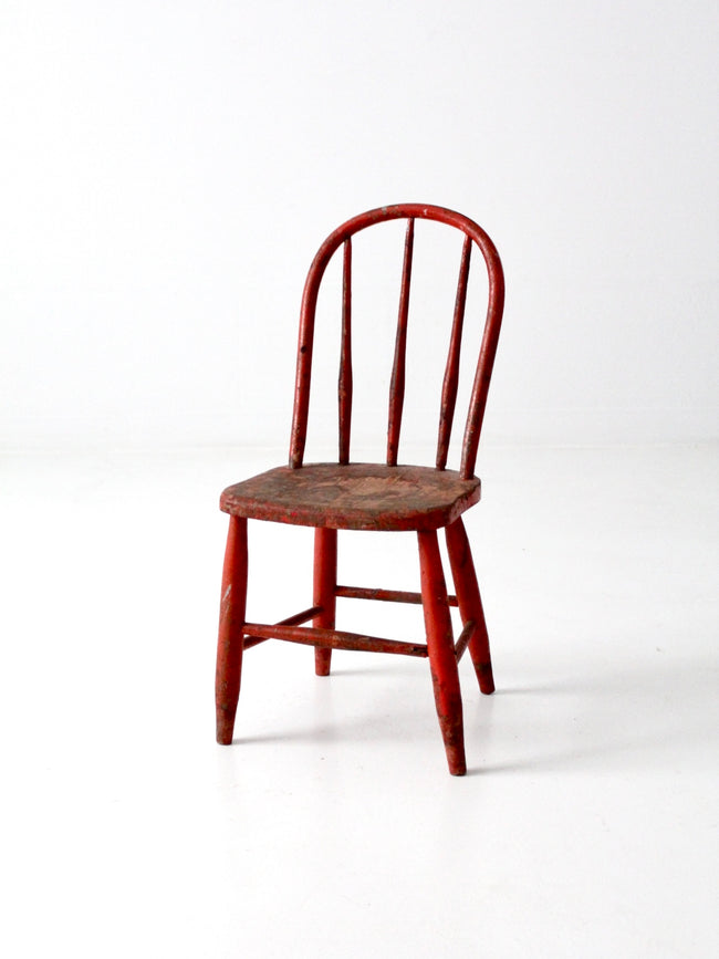 vintage red children's chair