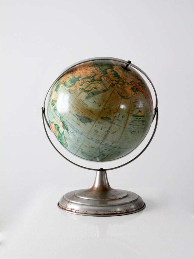 16 inch Nystrom pictorial relief globe