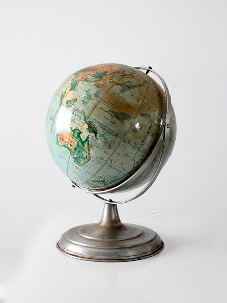 1960s world globe on stand
