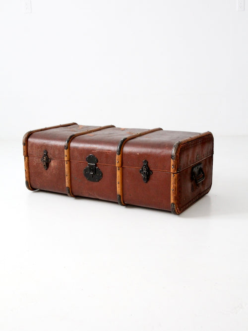 vintage Swedish luggage with wood banding