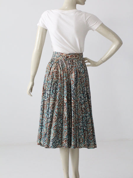 1950s southwestern circle skirt