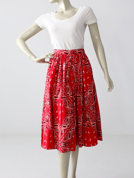 vintage 70s tropical wrap skirt