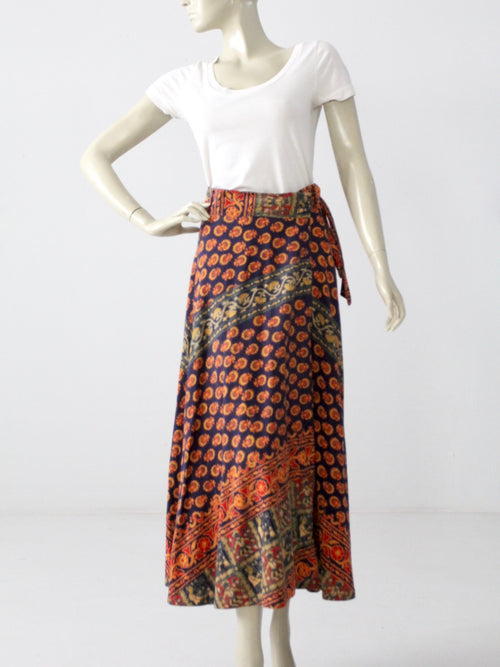 vintage hippie wrap skirt
