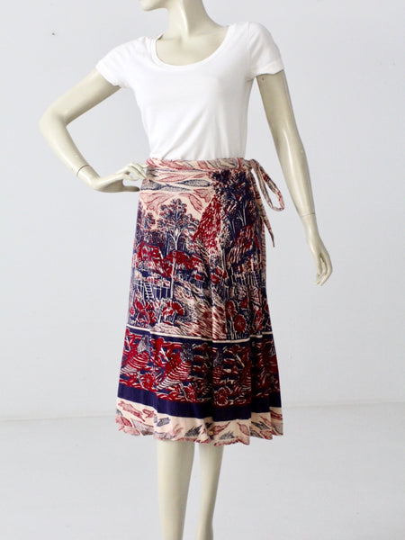 vintage convertible wrap skirt