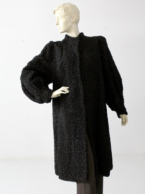 vintage Persian lamb fur coat