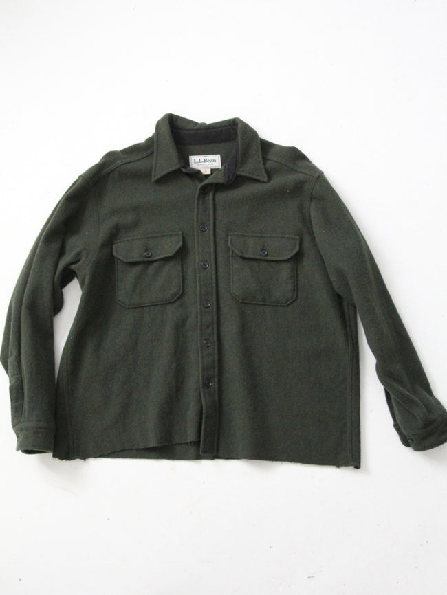 vintage LL Bean Fleece shirt jac