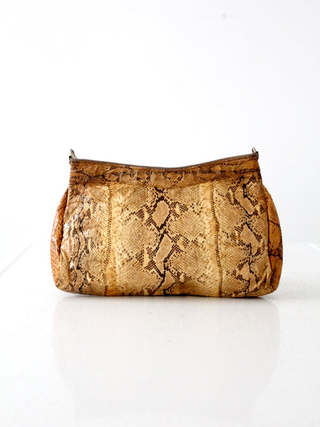 vintage snakeskin clutch bag