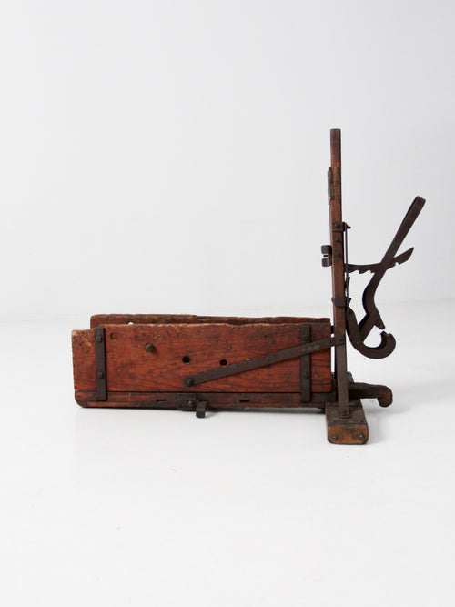 antique wood bender woodworking tool