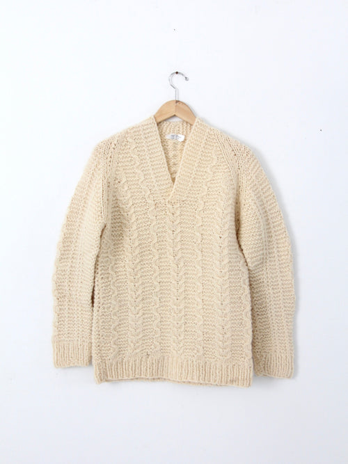 vintage Greek wool chunky knit sweater
