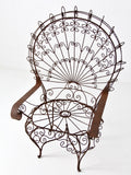 vintage wrought iron peacock chair
