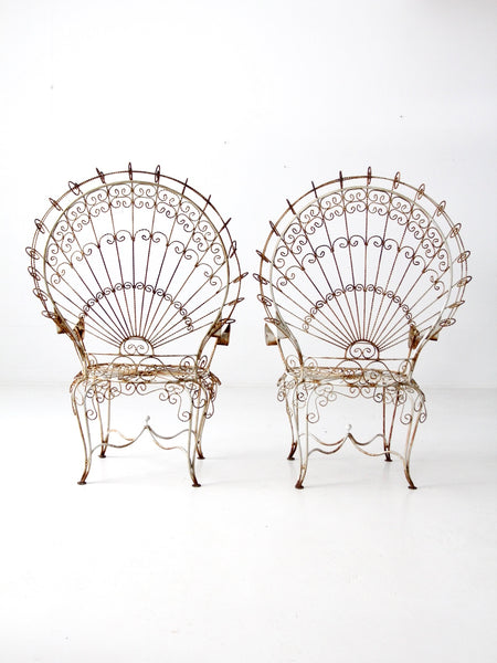 vintage wrought iron peacock garden furniture