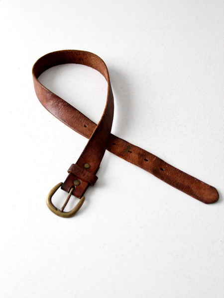 vintage brown leather belt