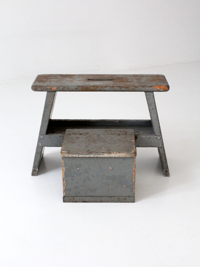 vintage primitive step stool