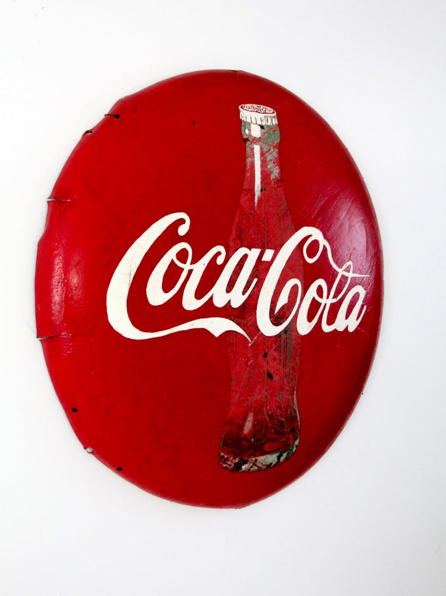 vintage Coca-Cola button sign