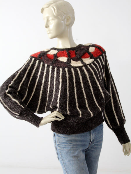 vintage 70s butterfly sleeve sweater by Mariea Kim