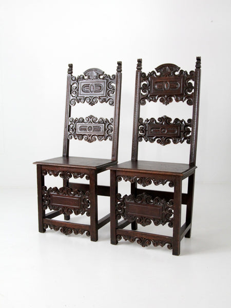 antique gothic chairs