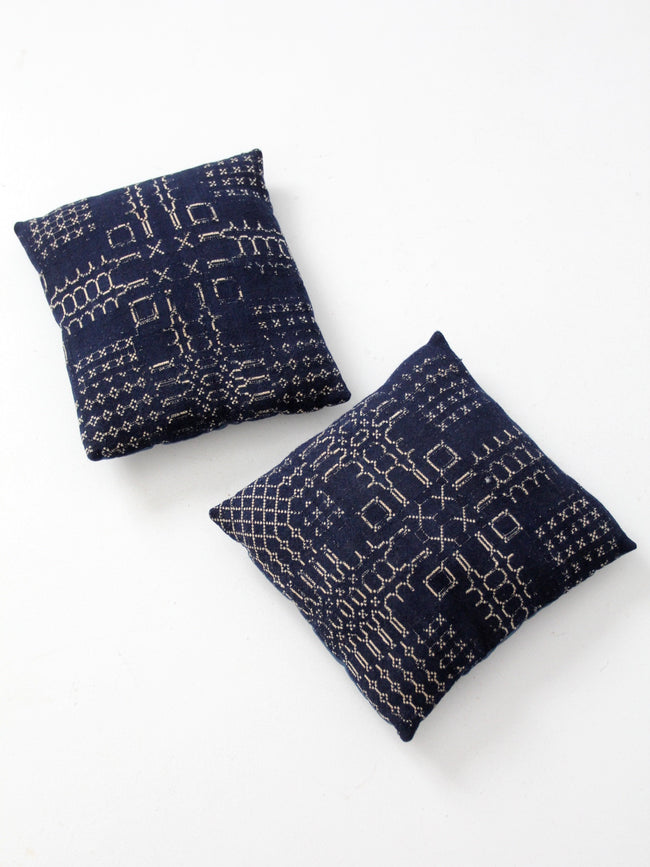 antique jacquard coverlet pillows set of 2