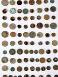 rusty coin art display