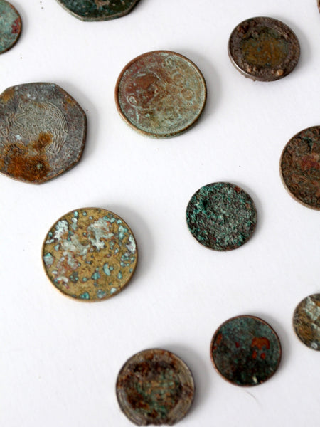 corroded coin collection