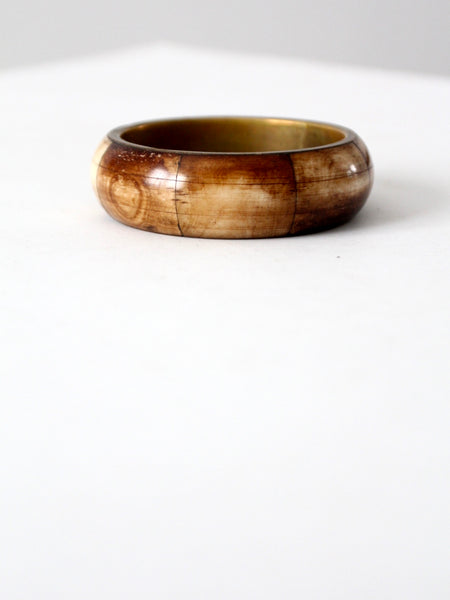 vintage brown bone and horn bangle