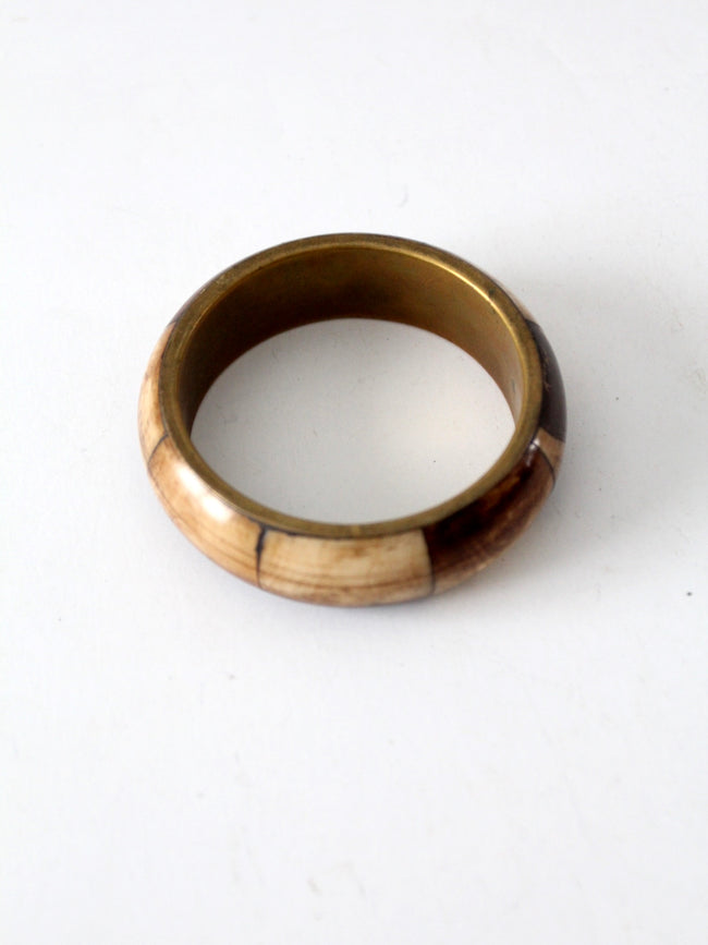 vintage bone and brass bangle