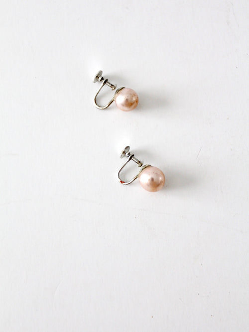 vintage Japanese faux pearl earrings