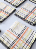 vintage plaid luncheon napkins - set of 7