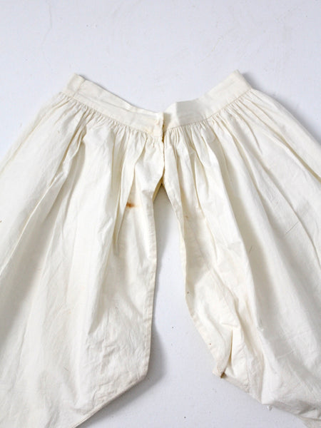 antique split leg bloomers