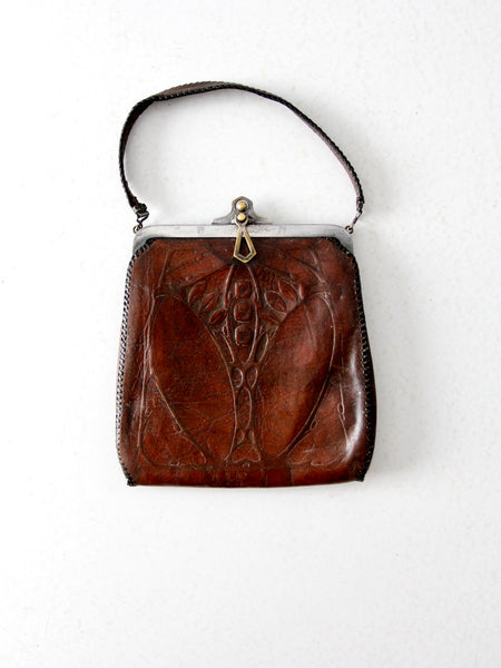 1920s Arts & Crafts leather bag