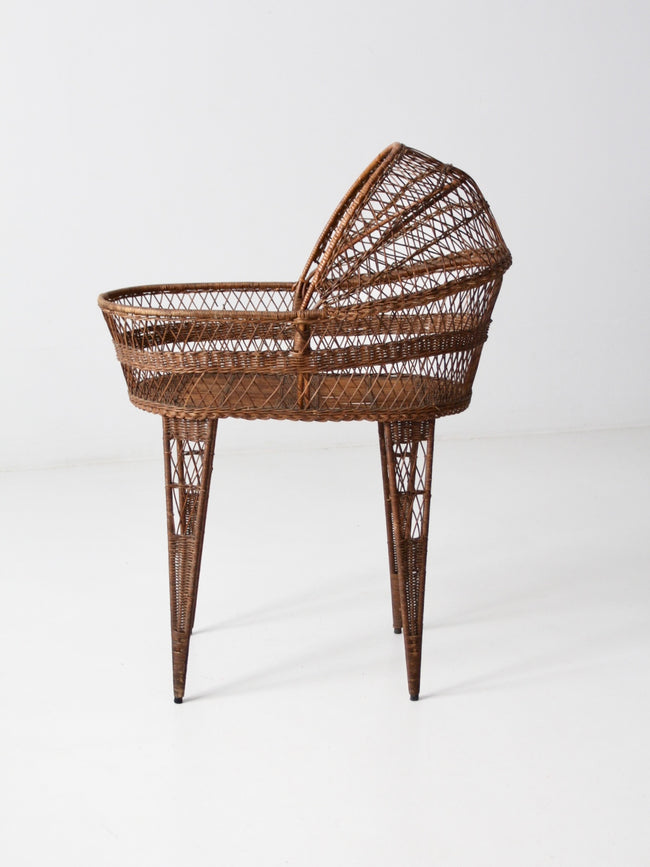 Victorian wicker bassinet