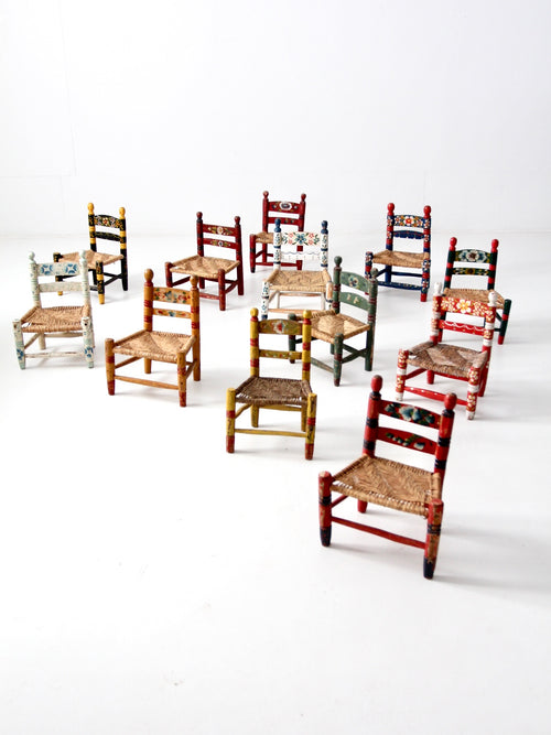 vintage Mexicana folk art chairs