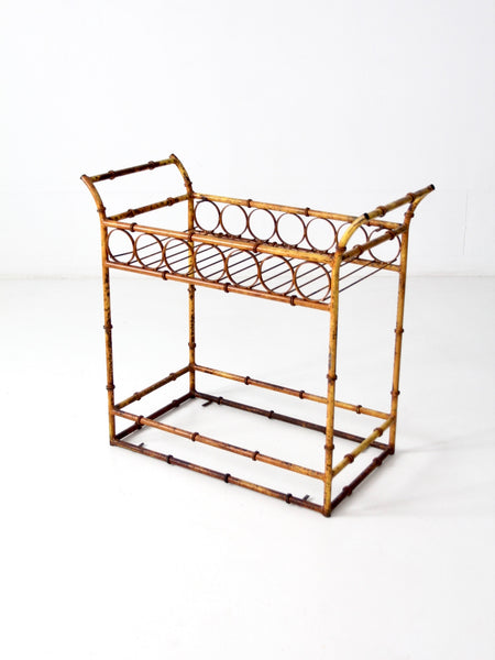 vintage rattan etagere - set of 2