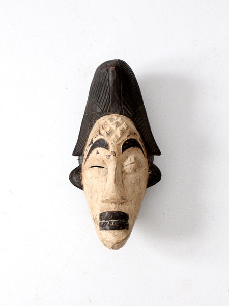 vintage African tribal mask Punu tribe