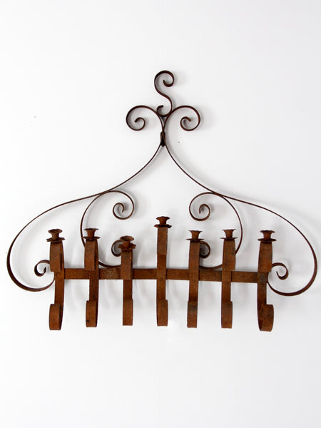 antique wrought iron wall candle holder