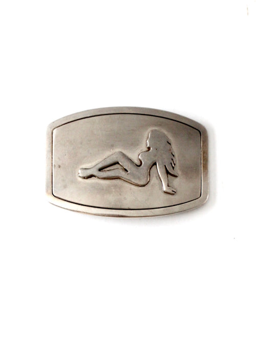 1970s mudflap trucker girl buckle