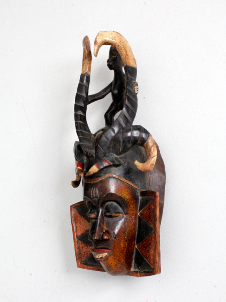 vintage African tribal art mask