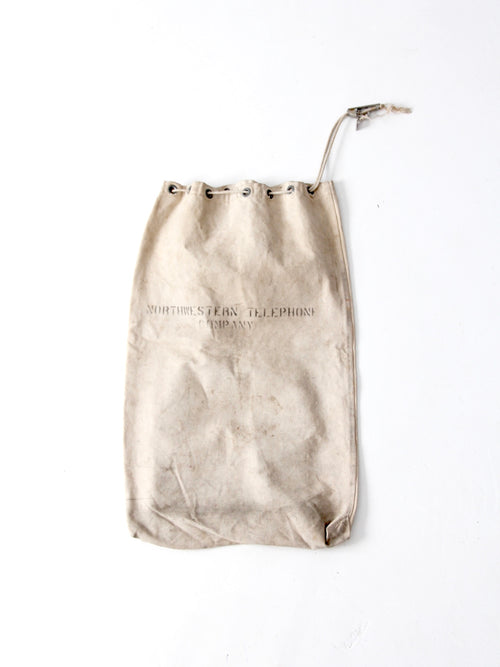 antique Northwestern Telephone Company canvas bag