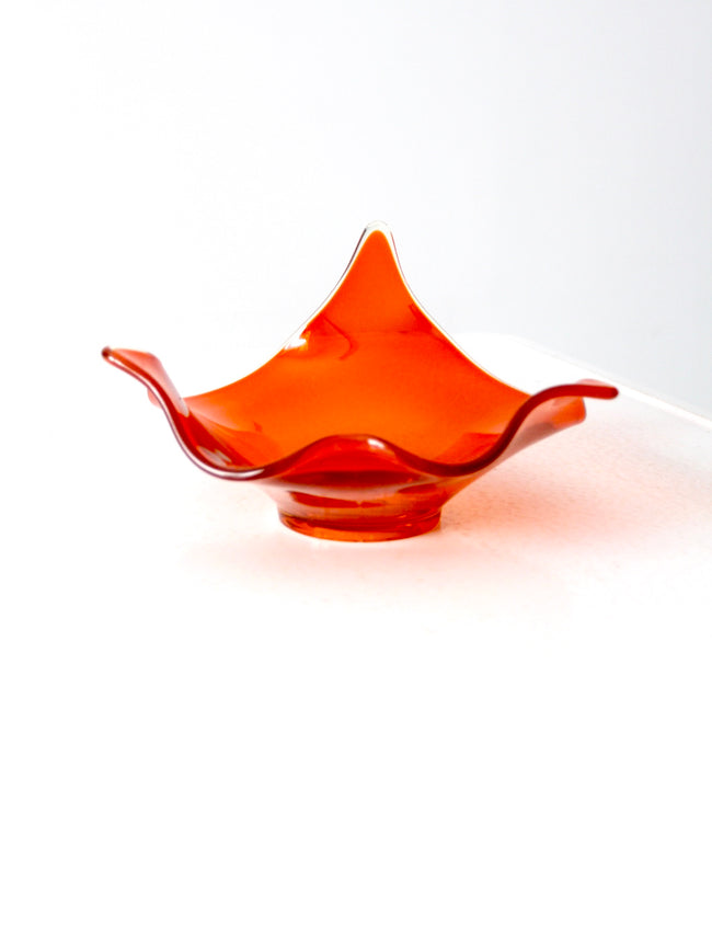orange Viking glass bowl