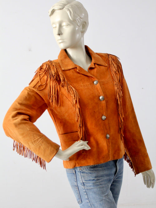 vintage Char & Sher fringe leather jacket