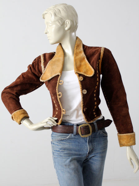 vintage 70s NBL style leather jacket