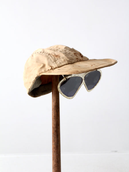 vintage Clearasite kid's hat with attached sunglasses