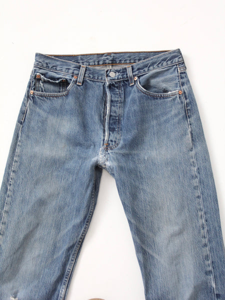 vintage Levis distressed denim