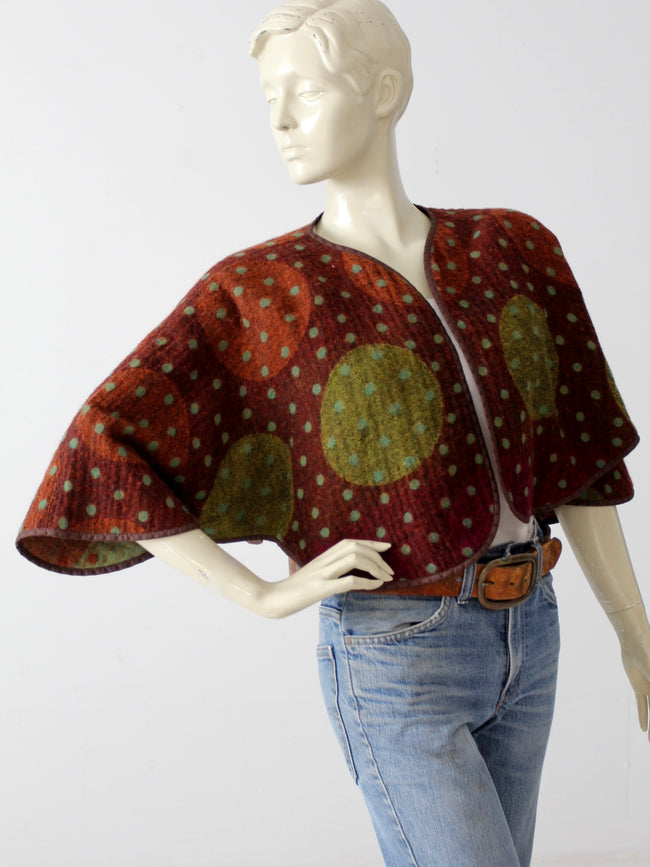 vintage crop open cardigan