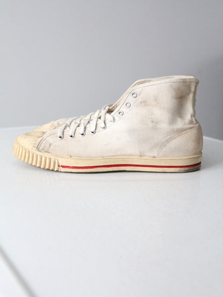 vintage 50s basketball high top sneakers