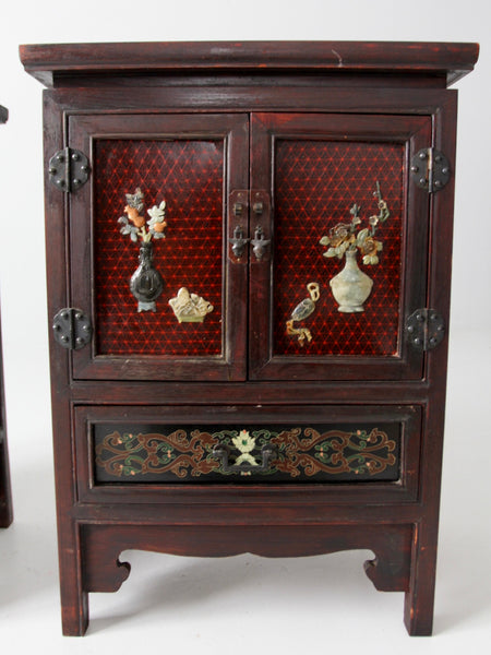 vintage Chinese side cabinets -  a pair